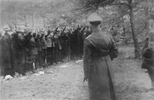 Piaśnica. The prisoners awaiting execution.