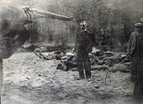 A mass execution of Poles conducted by the Germans in Piaśnica.