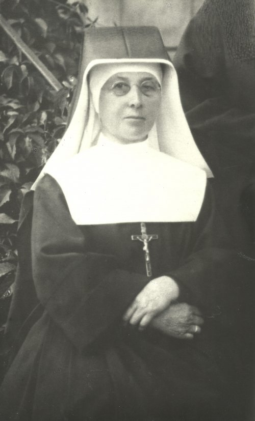 Sister Ambrozja, sister superior of the monastery of the Sisters, Servants of Mary Immaculate in Dominikowice. (Sisters, Servants of Immaculate Mary in Dębice collection)