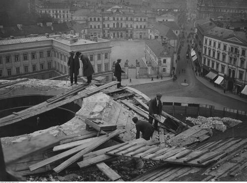 Rozbiórka soboru św. Aleksandra Newskiego, maj 1925 r. Fot. NAC
