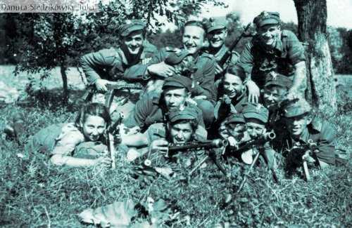 Soldiers of the 4th squadron of the 5th Vilnus Home Army Brigade, Białostocczyzna district of Poland, summer of 1945