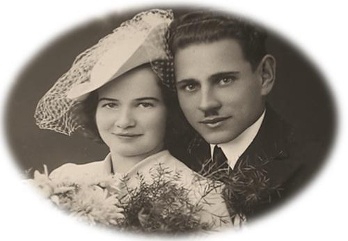 Zdjęcie ślubne Janiny iAntoniego  Żubrydów. Fot. ze zbiorów Janusza Niemca