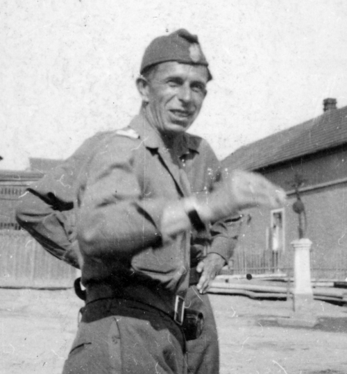 "The commander of the Świętokrzyska Brigade of the NSZ Col. Antoni Szacki codename ""Bohun"", ""Dąbrowski"" after the end of the war in Czech Republic and Germany"