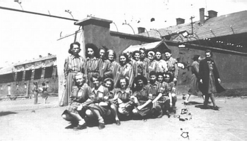 Female prisoners of the German concentration camp for women in Holiszów
