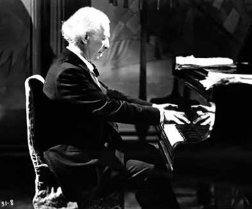 Ignacy Jan Paderewski in a British film Moonlight Sonata, 1937 Photo: NAC