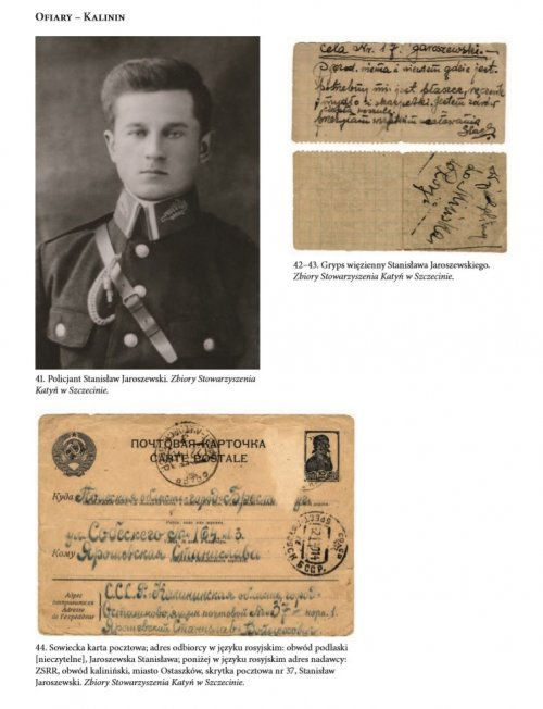 "Letter from policeman Stanisław Jaroszewski to his relatives, from Ostaszków, before his execution in Kalinin… From the ""Educational file of the Institute of National Remembrance"" entitled ""Katyń Crime"""