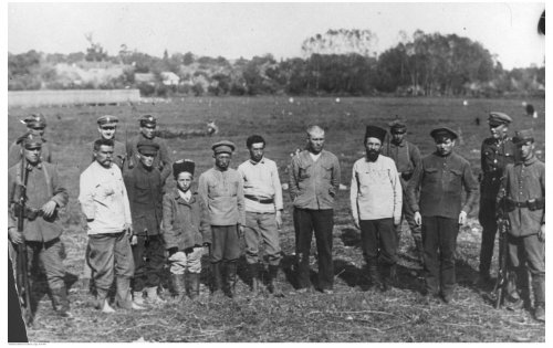 Polish-Bolshevik war. A group of Red Army POWs. From the collections of the National Digital Archives