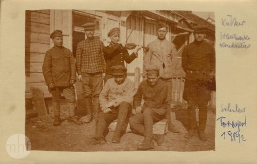 Russians (prisoners) in Terespol, 1919. Author: photographer Jan Zimowski. From the collections of the Museum of the History of Photography in Cracow