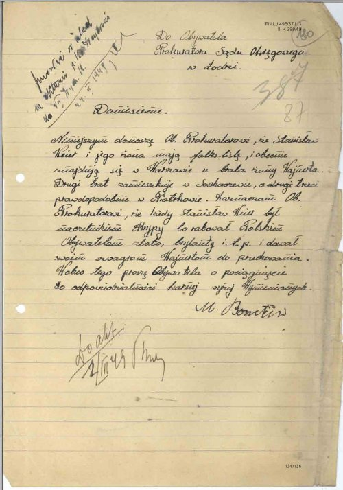 Bornstein's report on Weyer. From the collections of the Institute of National Remembrance