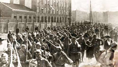Infantry of the Polish Army during Battle of Warsaw, August 1920