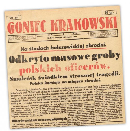 Informacja zniemieckiego dziennika propagandowego oodkryciu miejsca zbrodni na polskich oficerach wZwiązku Sowieckim
